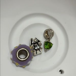 Various charms and beads for charm bracelet